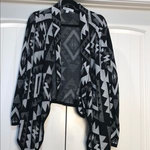 Waterfall Front Cardigan Sweater Size Large